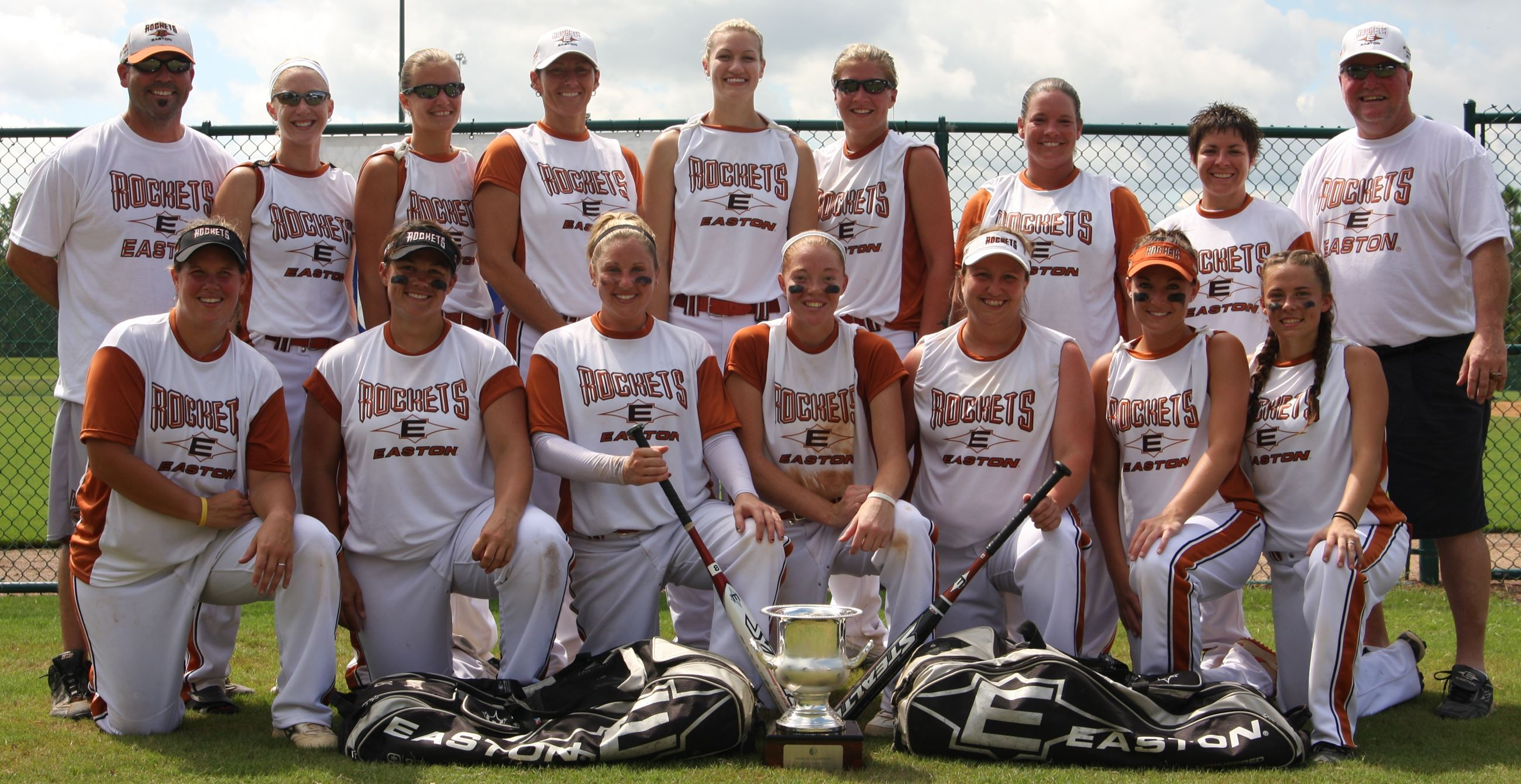 Softball Team Posing for a Picture