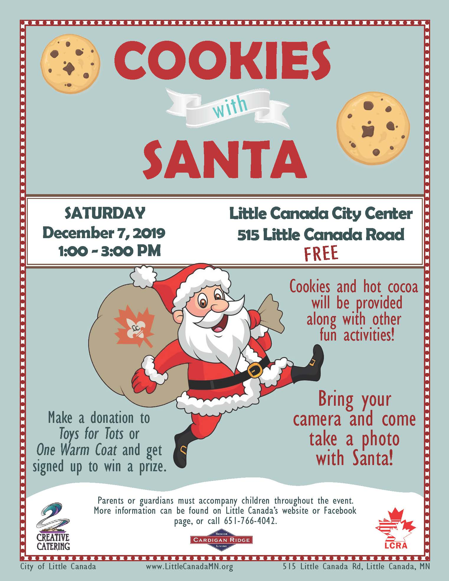 Cookies With Santa Little Canada Mn